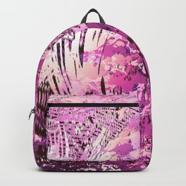 texture in fuchsia Backpack