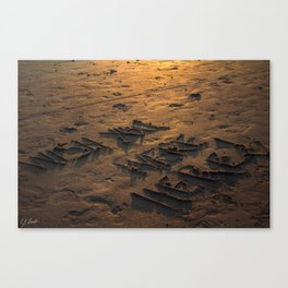 WISH YOU WERE HERE IN THE SAND Canvas Print