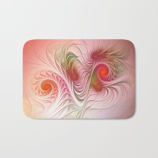 tender fractal growth Bath Mat