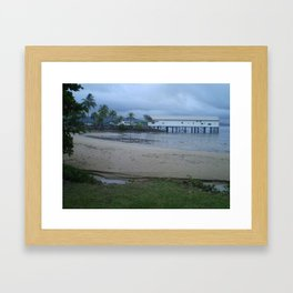 ON THE WHARF Framed Art Print