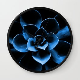 Dark Blue Succulent Plant #decor #society6 #homedecor Wall Clock