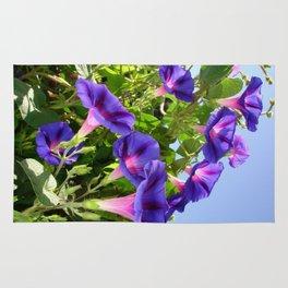 Deep Purple Morning Glory Climbing Plant Rug
