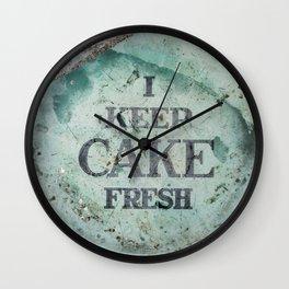"""""""I keep cake fresh"""" Wall Clock"""