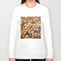 boob Long Sleeve T-shirts featuring Decisions, Decisions / Boob Painting by Heather Buchanan
