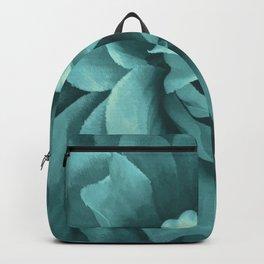 Soft Teal Flower Backpack