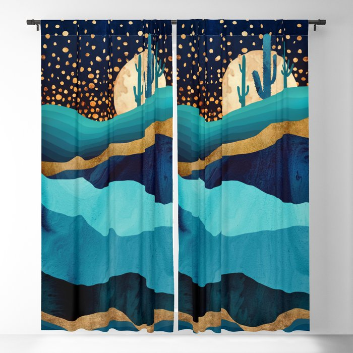 Indigo Desert Night Blackout Curtain