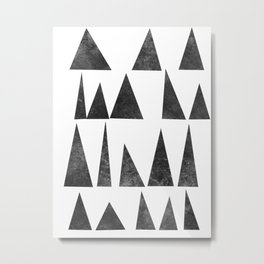 Mountains and Triangles Metal Print