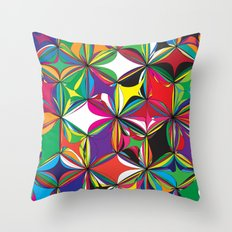 Flowers of Life Throw Pillow