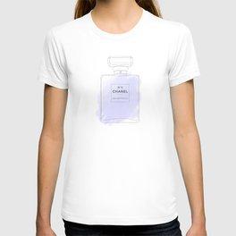 purple watercolor perfume T-shirt