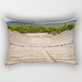 The ancient theater in Epidaurus, Argolis, Greece Rectangular Pillow