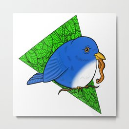 The Early Bird Gets the Worm Metal Print