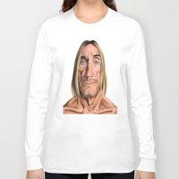 iggy Long Sleeve T-shirts featuring Celebrity Sunday ~ Iggy Pop by rob art | illustration