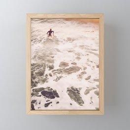 SunsetSurfing Framed Mini Art Print