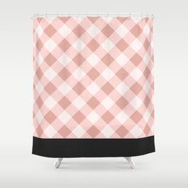 Diagonal buffalo check pale pink Shower Curtain