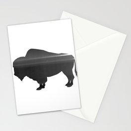 Buffalo print, Black & White Stationery Cards