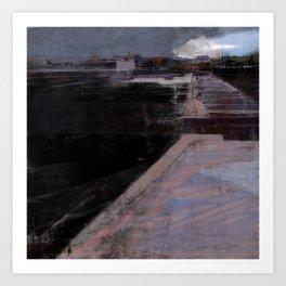 black river, SPb Art Print