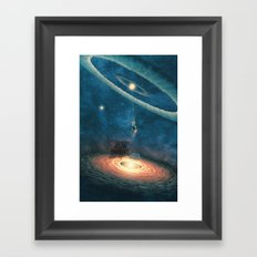 My dream house is in another galaxy Framed Art Print