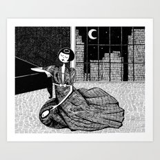 it is only a paper moon Art Print