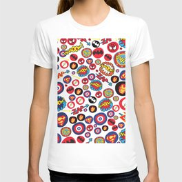 Superhero Stickers T-shirt
