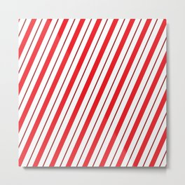 The Return of the Candy Cane - Christmas Illustration Metal Print