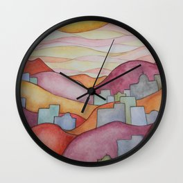 Colorful Hillsides Wall Clock