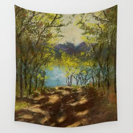 Chickies Rock Overlook Soft Pastel Painting Wall Tapestry