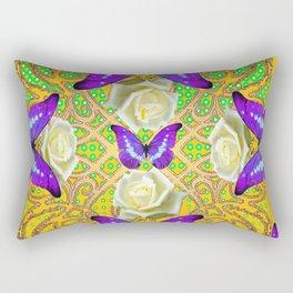 LILAC PURPLE BUTTERFLIES ABSTRACT GARDEN Rectangular Pillow