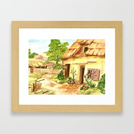 European Countryside Framed Art Print