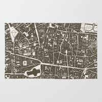 london map Area & Throw Rugs featuring London Map by Zeke Tucker