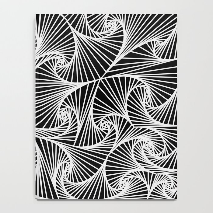 Fractal Sketch Dark Notebook