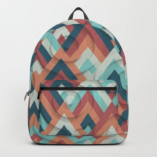 geometric vintage 70s Backpack