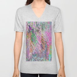 Abstract Vibrant Purple Blue Pattern Unisex V-Neck