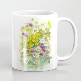 Watercolor meadow flowers spring Coffee Mug