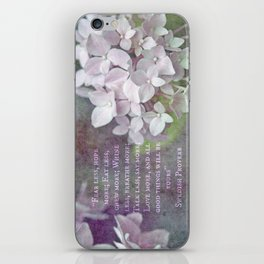 All Good Things Will Be Yours iPhone Skin