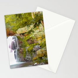 Painted Waterfall in the Forest Stationery Cards