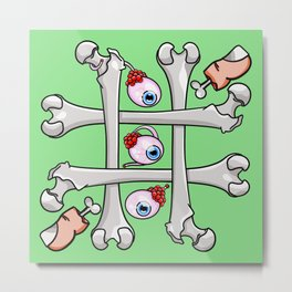 Halloween Tic Tac Toe Metal Print