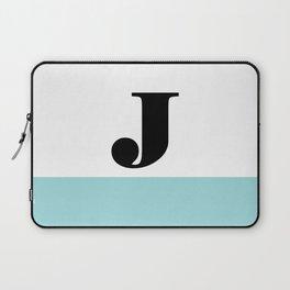 Monogram Letter J-Pantone-Limpet Shell Laptop Sleeve