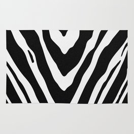 Zebra Stripes in Black and White Rug
