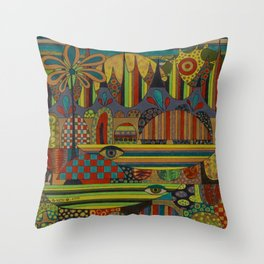 Ghe Ngo [Khmer Boats] Throw Pillow