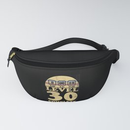 level 30 unlocked complete geburtstag 30th Fanny Pack