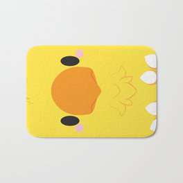 Yellow Chocobo Block Bath Mat