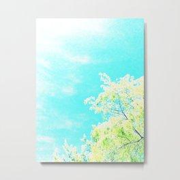 Bright Trees Against Blue Metal Print