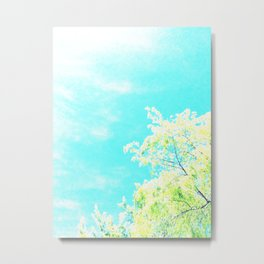 Bright Trees Against Blue Metal Print