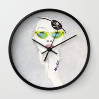 pirates Wall Clocks featuring Pirates Mania by SEVENTRAPS