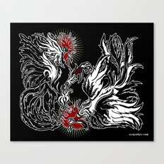 Dos Gallos Canvas Print