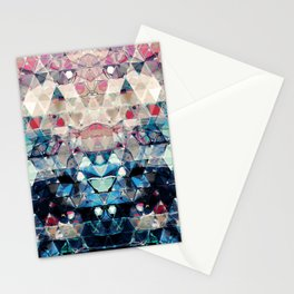 Colorful Abstract Triangles Stationery Cards