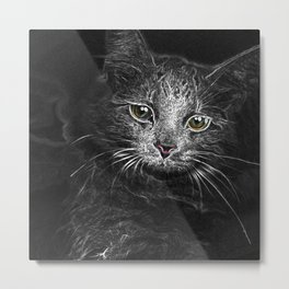 Lunar Essence of the Siberian Kitty Cat Metal Print