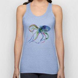 Blue Rainbow Octopus Unisex Tank Top