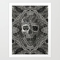 live Art Prints featuring Lace Skull by Ali GULEC