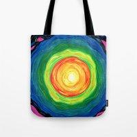 big bang Tote Bags featuring Big Bang by Shalimar Luis